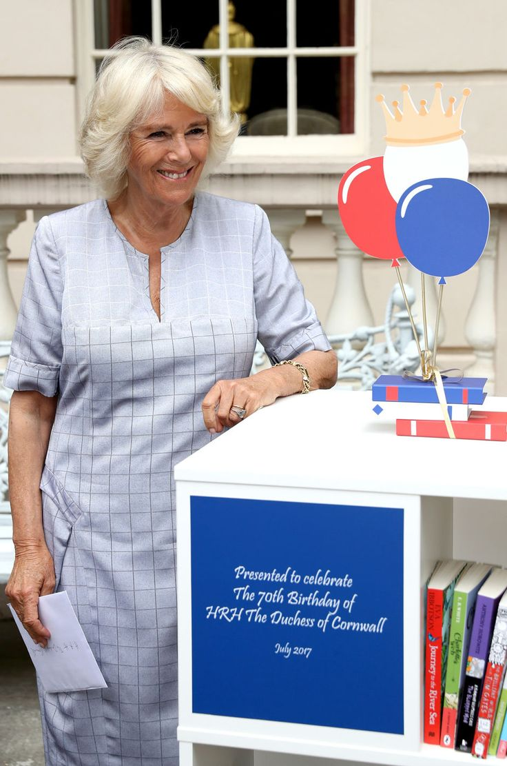 Camilla, Duchess of Cornwall hosts a tea party to celebrate the Duchess's Bookshelves Project at Clarence House on July 11, 2017 in London, England. The Project is an initiative to find the nation's 70 favourite children's books to mark the Duchess of Cornwall's 70th birthday