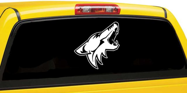 Arizona coyotes inspired window car decal hockey team inspired car decal ebay
