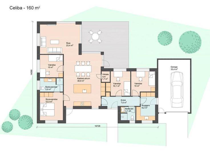 Celiba - 185 m2 Plantegninger Pinterest House - plan maison 170 m2 plain pied