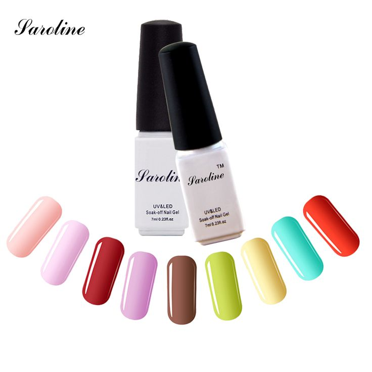 Saroline Esmalte Permanent lucky Colors cheap Gel Nail Polish Set Gel Lacquers Varnishes One Step UV/LED Nail Gel 3 in 1 #Affiliate