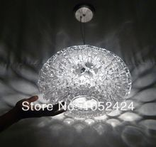 Free shipping, Honeycomb Design Pendant Light, 1 light, Modern Transparent Acrylic plating(China (Mainland))