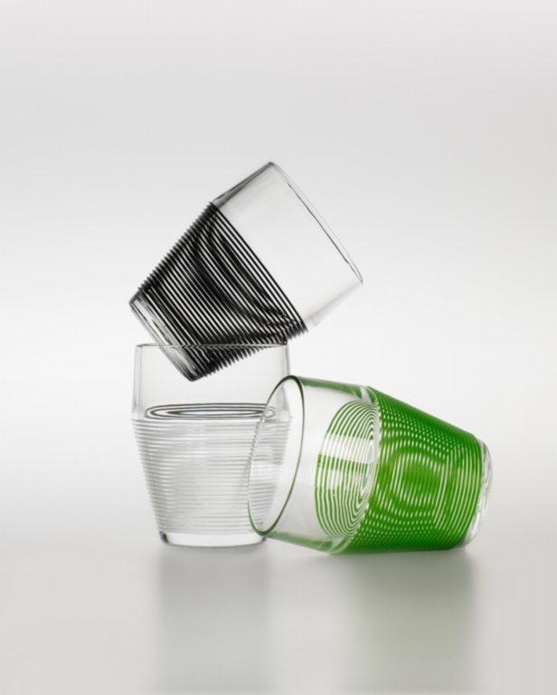 TIMO Glasses (boxed set of 4) | Designer: Timo Sarpaneva | Black or White | shopAGO 2012 Gift Guide