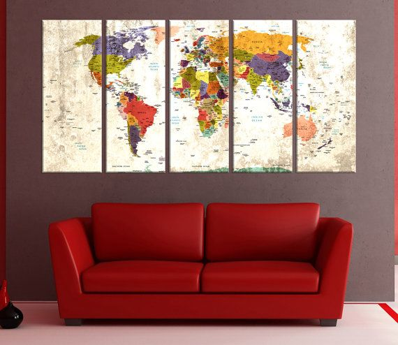 Push pin world map wall arts are perefed who love travelling. you can pin your memories like photo on traveling world map canvas art and it will make complate your decoration in your room which is reflect your life style.   my items differences is i add eps sheet back of the canvas which is keep strongly the pin with photos or add notes. sometimes some buyer request paper to save money but i never prefer paper or cardboard for push pin world map because it can not keep the pins and demage…