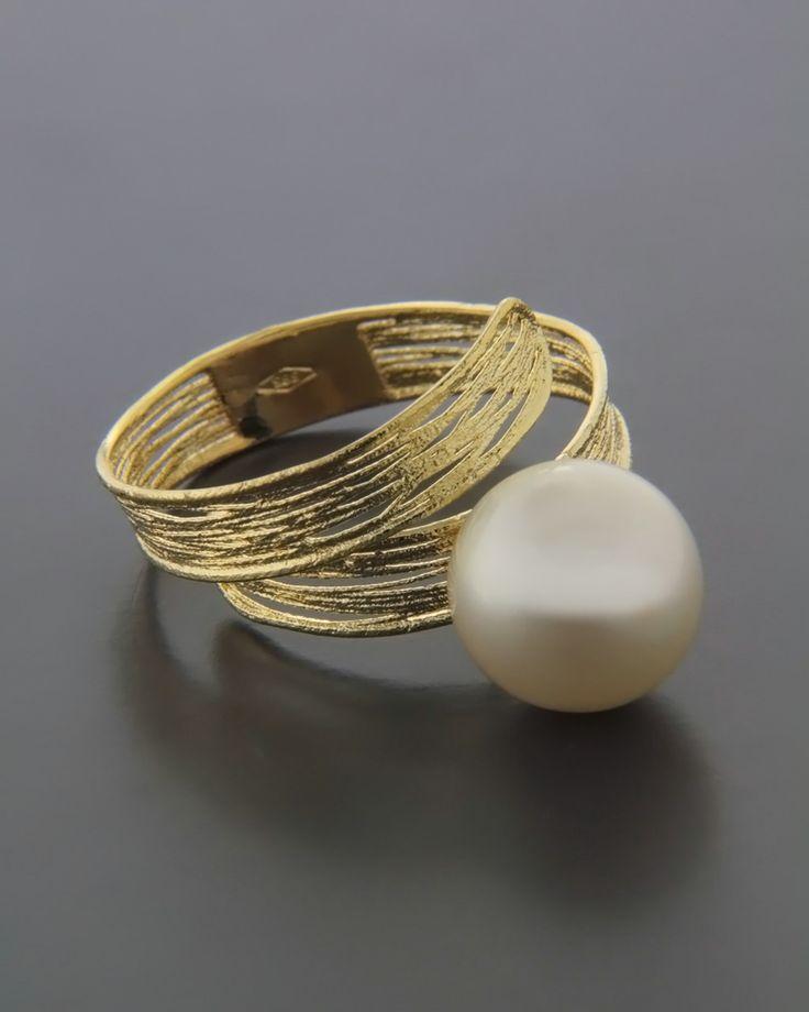 Δαχτυλίδι χρυσό Κ18 με Μαργαριτάρι