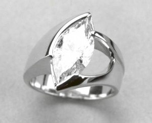 Idea for pointer finger ring with old marquise.  I like that it's more of a flush type mounting.