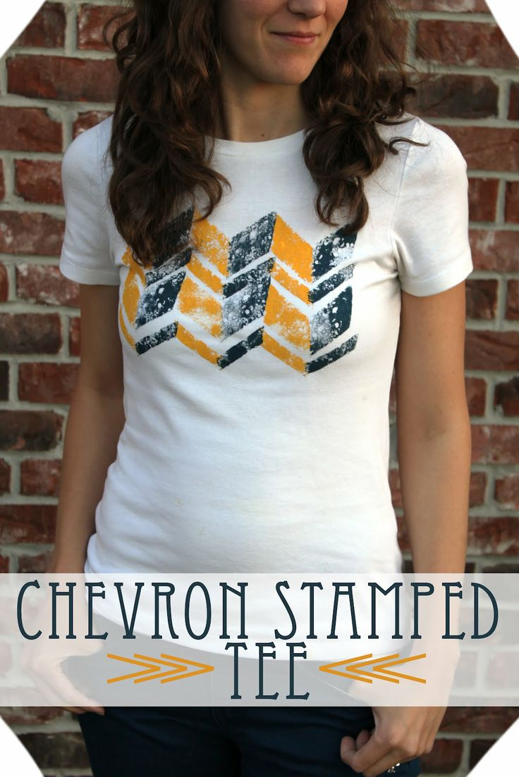 Chevron Stamped Tee