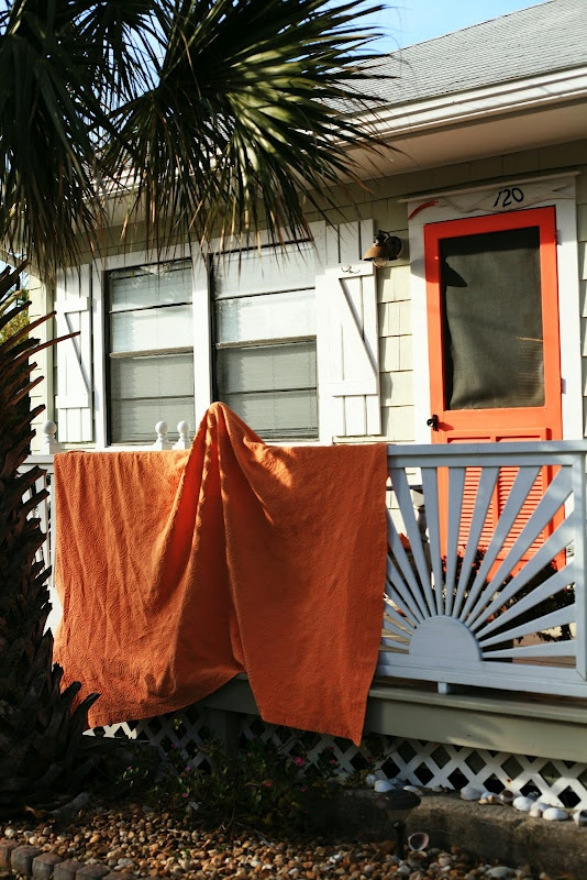 Orange Screen Door Sunburst Porch Rail For The Home In