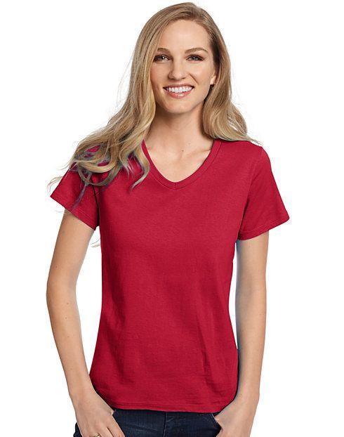 3d7798fd2 Women's Relaxed Fit TAGLESS® ComfortSoft® V-Neck T-Shirt | Catalog ...