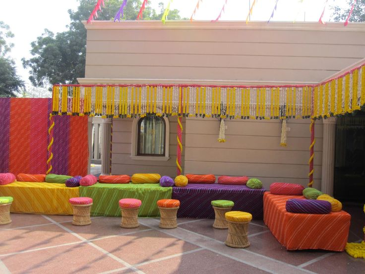 colorful fabrics # Mehandi Decorations