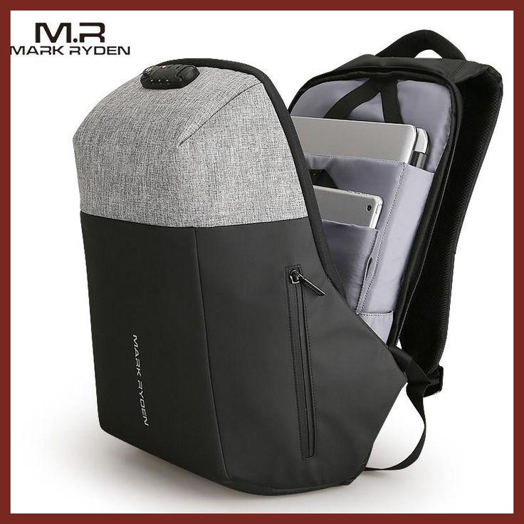 Markryden New Antithief USB Recharging Laptop Backpack