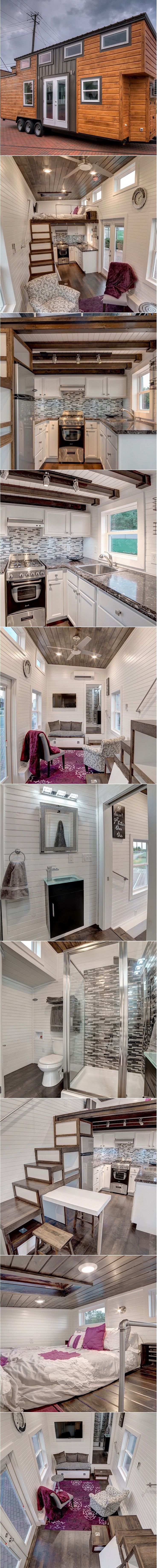 "The Freedom Tiny House  @altinyhomes This charming tiny house on wheels is designed and built by Alabama Tiny Homes of Mount Olive, AL. Named the ""Freedom"", the home measures 304 sq ft and comes with a plethora of features to make you feel right at home. The Freedom comes with two LCD televisions; one […]"