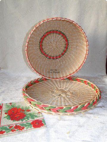 Поделка изделие Плетение Набор для кухни Красные маки Бумага газетная Трубочки бумажные фото 4