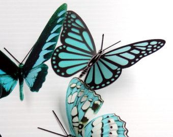 50 pack of 3D Butterflies Dragonflies and by Clearcutcrafts