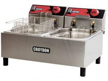 Fritadeira 4,5 Litros Inox Cesto Removível - Croydon Quente Elétrica FC2B?2