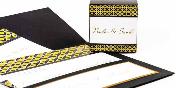 Modern Wedding Invitation Suite | Wedding Pocketfold Invitation | Black Gold | Glam Wedding | Save the Date | Wedding Stationery