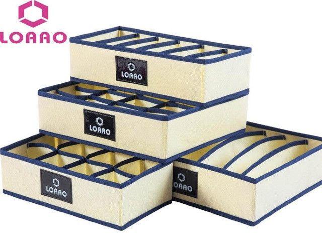 LOAAO 4 in 1 per set foldable storage box home organizer Box bins bra underwear necktie socks storage organizer