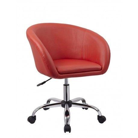 Fauteuil à roulette tabouret chaise de bureau rouge BUR09026