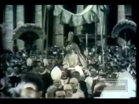 Papa Pio XI 1954s old footage - YouTube