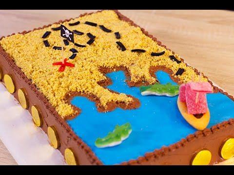 Gâteau d'anniversaire pirate / carte aux trésors