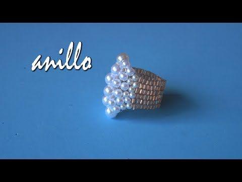 DIY - Anillo perlas - Miyuki - Pearl ring - Miyuki - YouTube