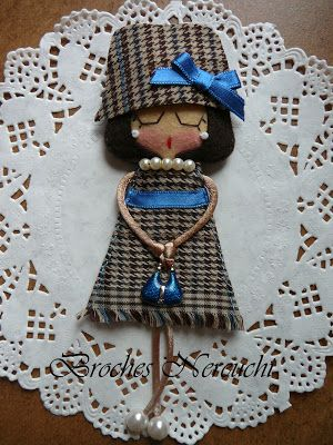 NEREUCHI Brooches: Brooches dolls. she would look pretty with an angels outfit and wings
