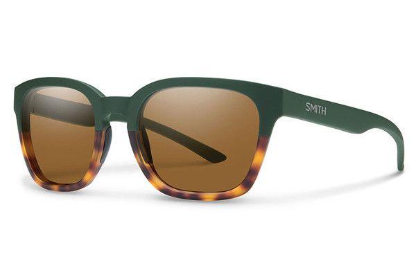 ac99b1ac641f Smith - Founder Slim Matte Olive Tortoise Sunglasses, Brown Lenses ...