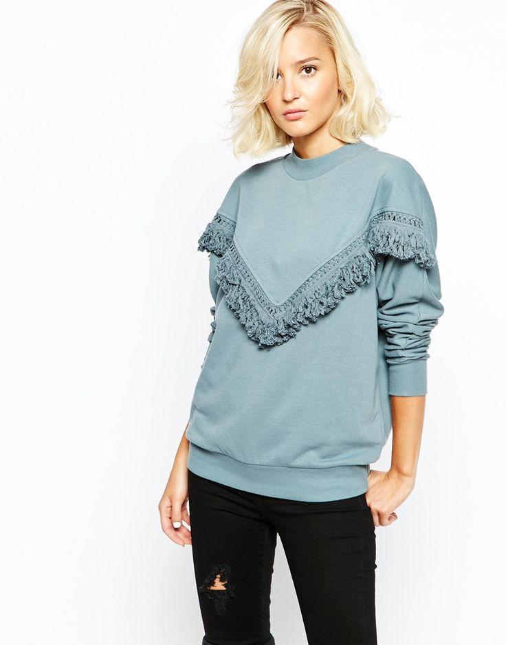 Image 1 ofSelected Lisa Sweatshirt with Fringing