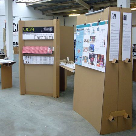 Cardboard exhibition display stands carton design for Stand carton