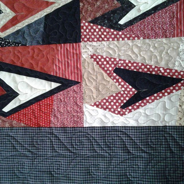 #buggybarn #heartquilt  for kunde. #freemotionquilting