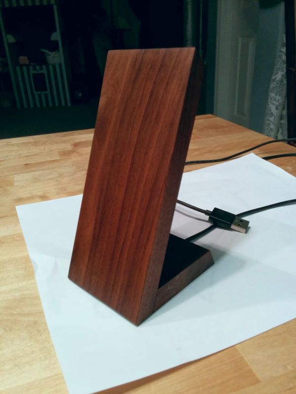 [DIY] Magnetic, Wireless Wood Charging Stand | Google Nexus 5 | xda-developers
