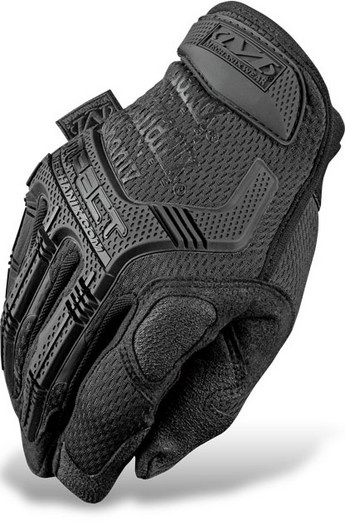 M-Pact features a new rubberized grip on thumb, index finger and palm, and sonic welded molded rubber on knuckles and fingertips.  A special hidden feature—Poron XRD foam—lies underneath the palm.  High impact Poron XRD absorbs more shock and vibration associated with repetitive tasks than its much thicker, traditional EVA foam counterpart.  With double stitching and dual panels in critical wear areas, Trek Dry spandex top, and a hook and loop wrist closure for a secure fit
