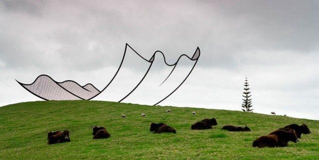Horizons, 1994  Neil Dawson  www.neildawson.co.nz  via fubiz.net    for #installation: Farms, Art, Dawson S Horizons, Neil Dawson S, New Zealand, Steel Sculpture