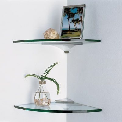 Best 25 glass corner shelves ideas on pinterest corner - Glass corner shelf for living room ...