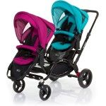 ABC Design Zoom Tandem Pram coral grape blue purple - Collection 2015