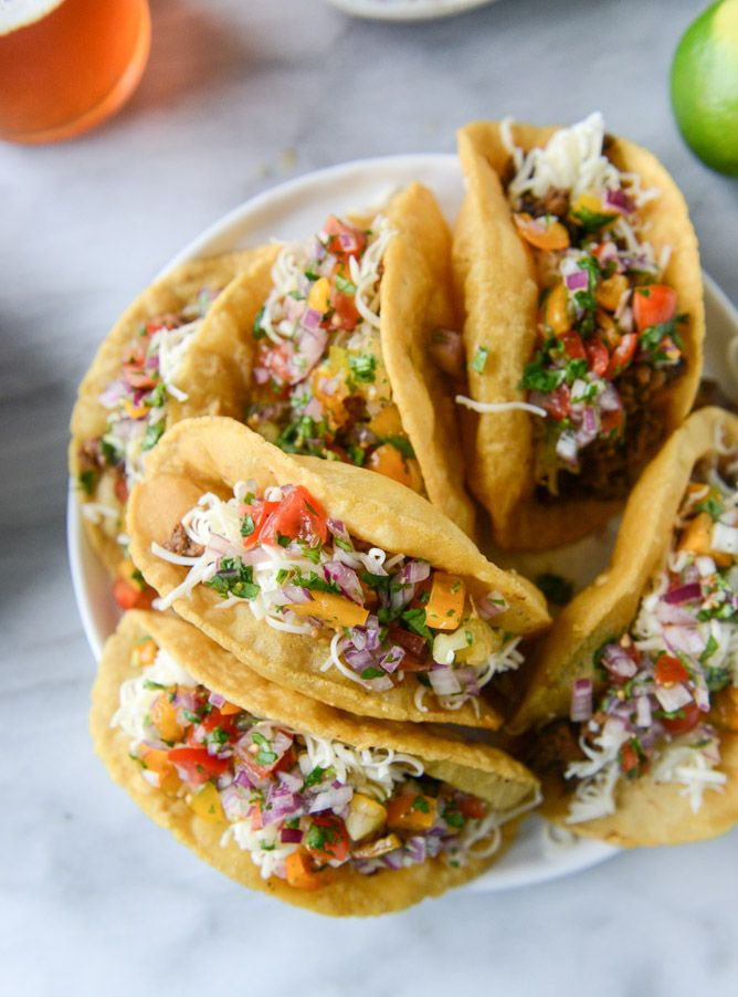 the best beef puffy tacos I howsweeteats.com