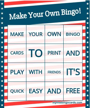 Design Your Own Bingo Cards