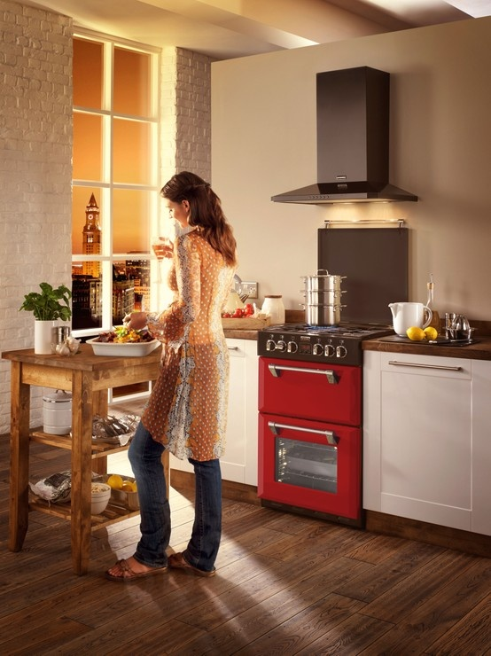 Stoves Richmond Colour Boutique mini range cooker in Hot Jalapeno red.