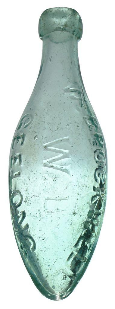 Brockwell Geelong Antique Torpedo Bottle