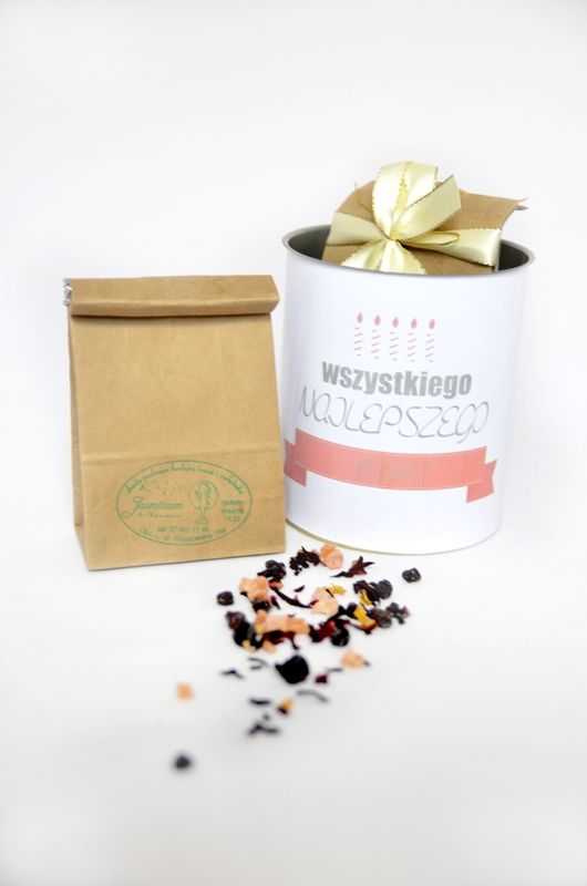 Puszka na prezent urodzinowy/imieninowy z herbatą sypaną http://3dpoint.pl/?page_id=15242