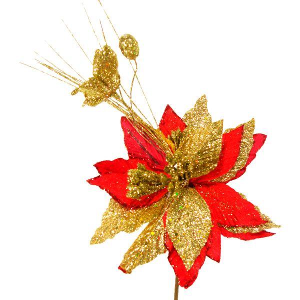 Flor navideña decorada