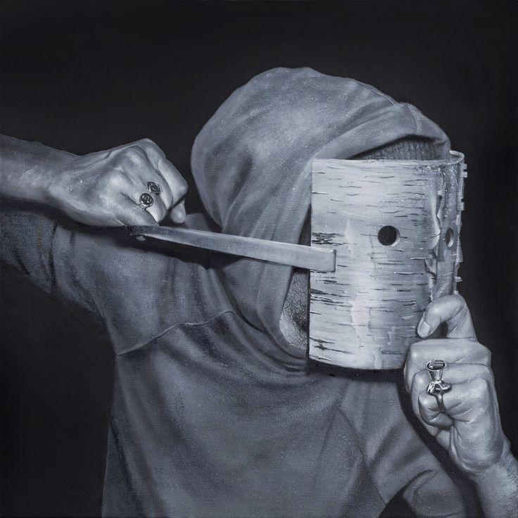 Czarny charakter VIII, 2014, olej, 50 x 50 cm, autor: Bartek Buczek Reprodukcja: Barbara Kubska