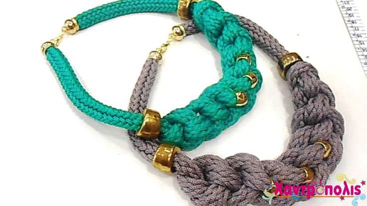 Knitted Cord - How to make a simple necklace with knots
