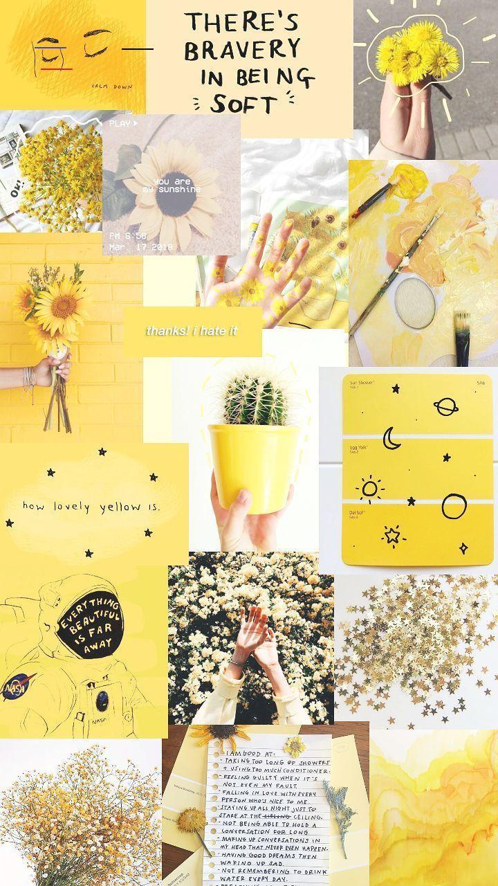 #yellowaestheticvintage | Seni buku, Poster bunga ...