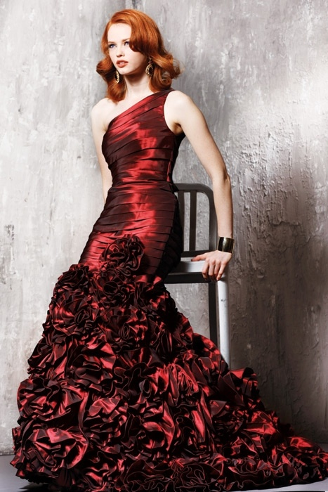 Cocktail dress for redheads