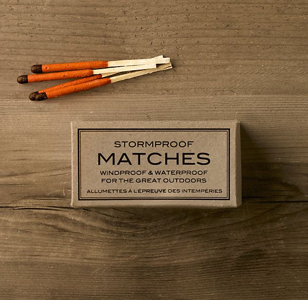 Stormproof Matches: Restoration Hardware, Graphic, Stormproof Matches, Stuff, Packaging, Outdoor, Storm Proof, Products