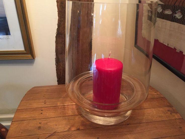 Large Glass Hurricane Vase Storm Lantern Candle Holder Table Decoration Wedding  #Unbranded #Traditional