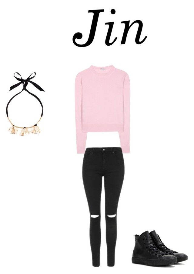 """Jin"" by nataliejohnson688 on Polyvore featuring Miu Miu, Topshop, Converse and New Look"