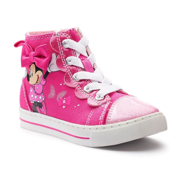 Disney Minnie Mouse Toddler Girls' High Top Sneakers, Size: 10 T, Pink