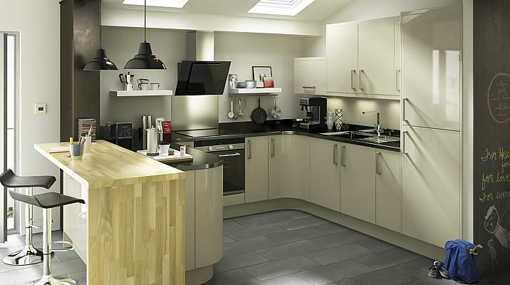 Santini Gloss Grey Slab, Kitchen Cabinet Doors & Fronts, Kitchens