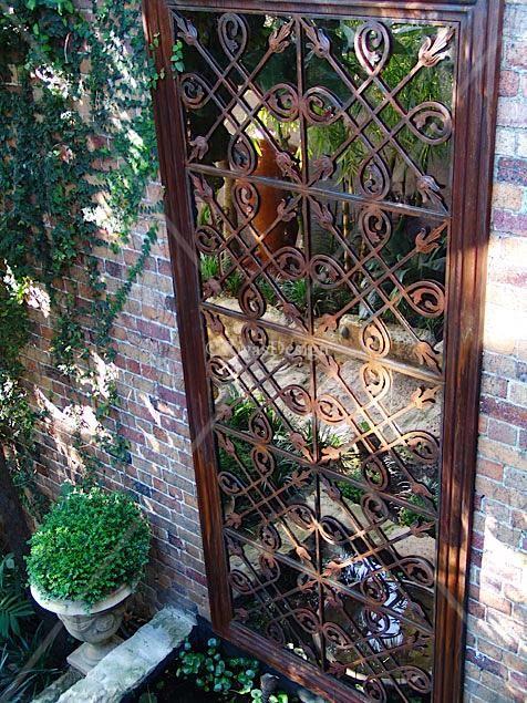 Two Tile standard size garden mirror